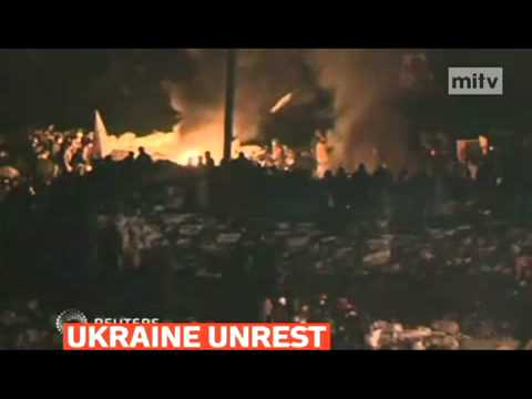 mitv - Tensions remained high in Kiev as several dozen protesters seized