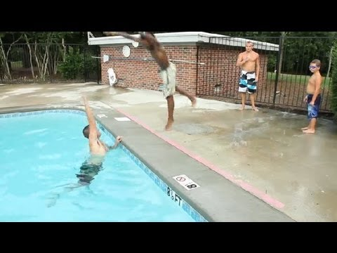 Fun swimming pool games swimming tips youtube - Games to play in the swimming pool ...