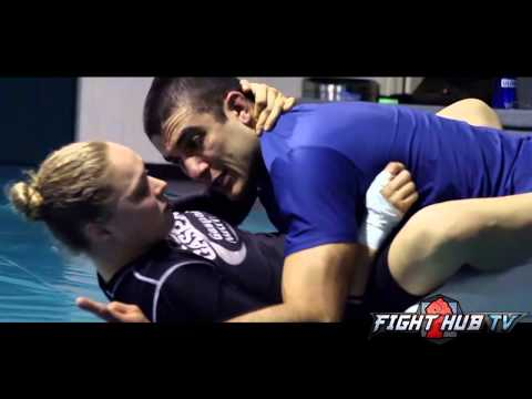 Ronda Rousey vs. Miesha Tate 2- Rousey works out with Rener & Ryron Gracie