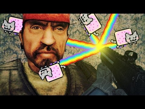 seananners trouble in terrorist town  nyan cat gun trouble in