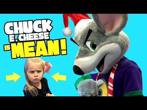 Chuck E Cheese is Mean!! Kids Playing Arcade Games & Family Fun