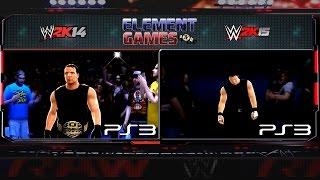 WWE 2K15 : Dean Ambrose Entrance 2K15 Vs 2K14 Comparison