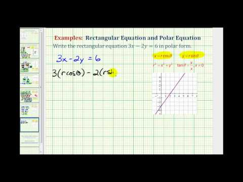 Example: Find the Polar Equation for a Line