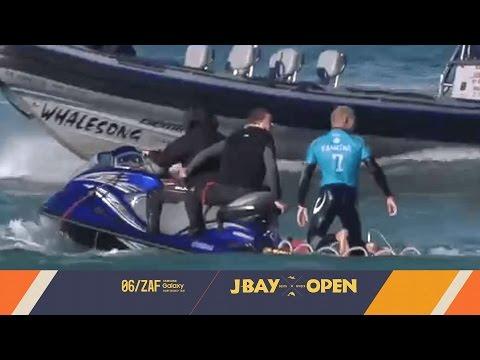 مواجهة بقاء بين بطل عالمي في ركوب الأمواج وقرش
