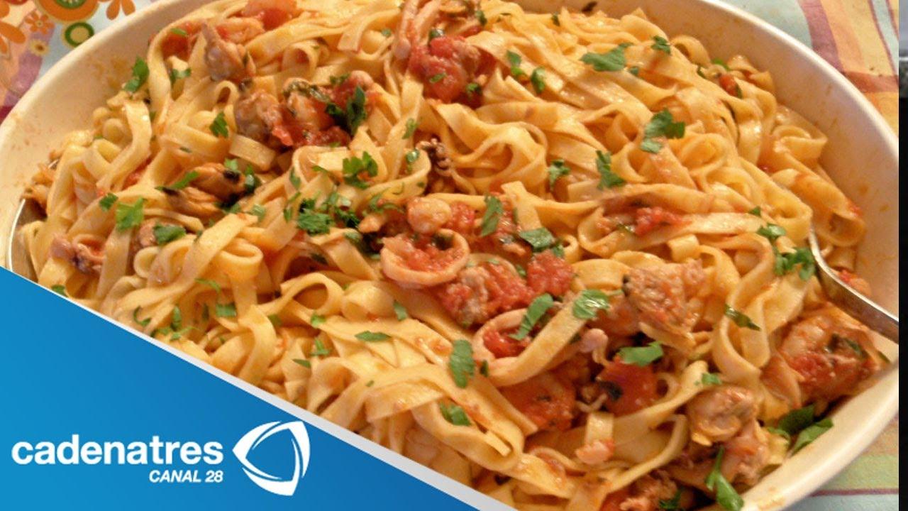 Spaghetti a la marinara receta de comida italiana youtube for Comida italiana