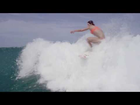 Anastasia Ashley Surfing in Skimpy Bikini