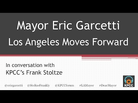 LA Mayor Eric Garcetti live at KPCC