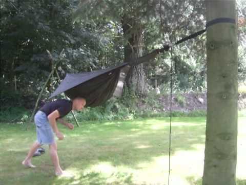 Hennessy Hammock Setup Trees 10 Meters Apart Youtube