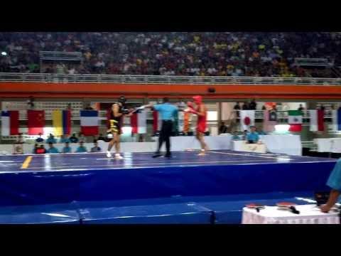 Final Sanda Hombres 65 Kg 3 Round Juegos Mundiales Cali 2013.