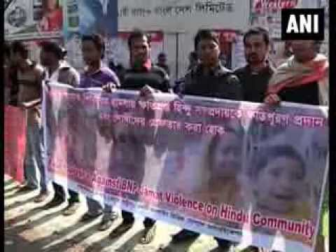 Hindus in Bangladesh protest against attacks on minority community