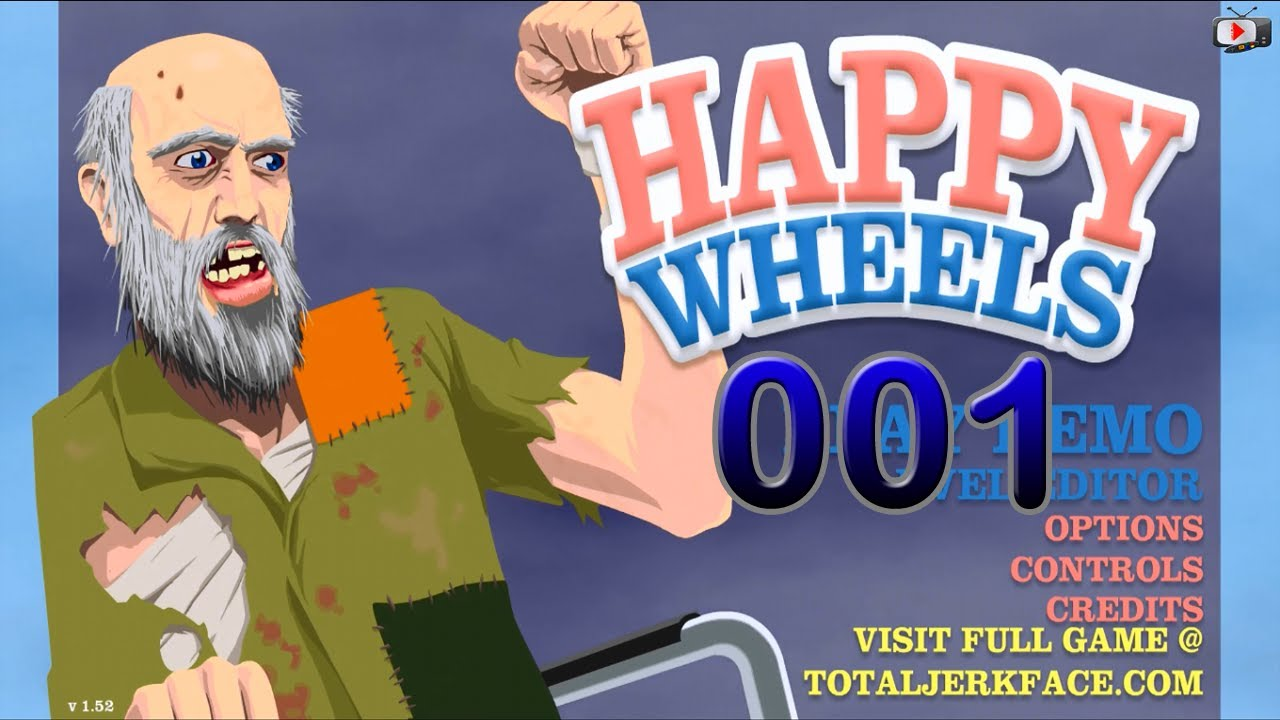 happy wheels demo game play