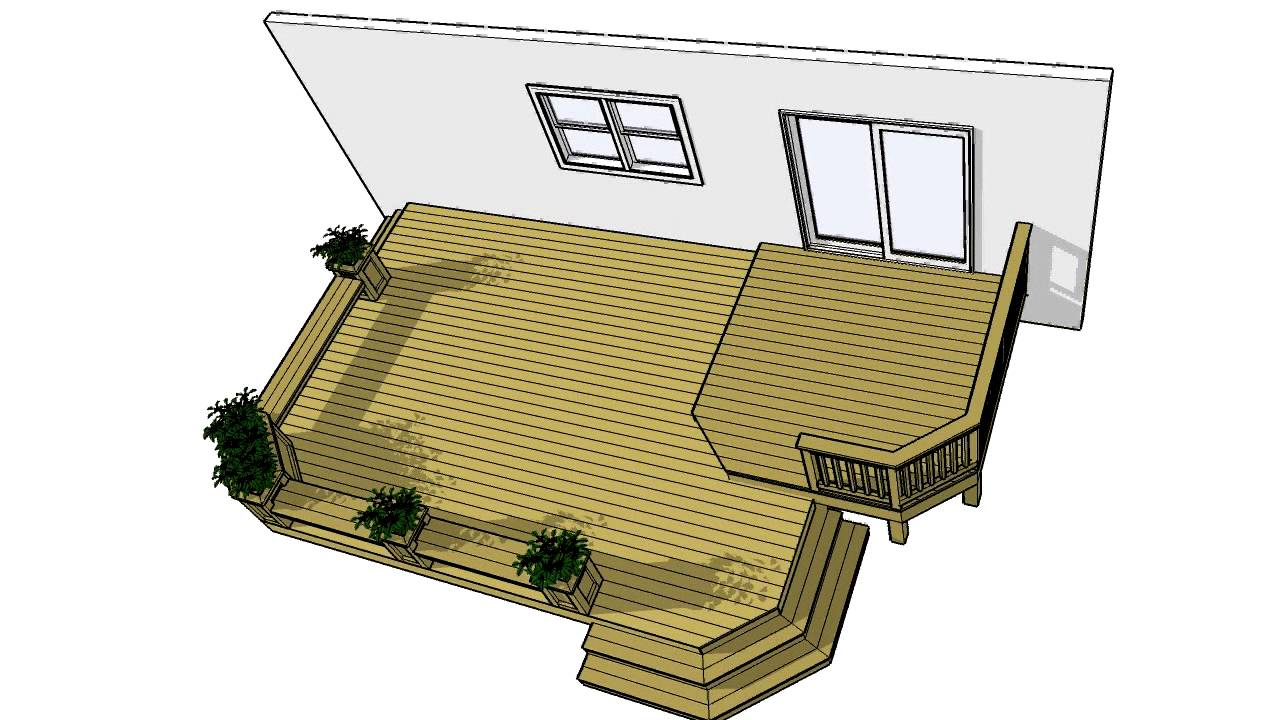 Deck plans 2lf1612 free 200 sf plan download it now youtube for Deck planner online free