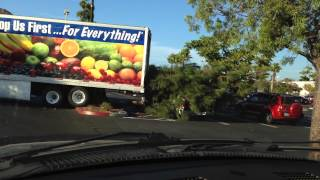 Woman Driver Fail! 99 Cent Only 18 Wheeler Big Rig Crashes