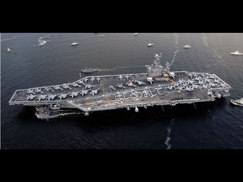 Typhoon Haiyan -U.S. Military ship USS George Washington and Aircrafts in Philippines for help