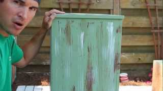 How-to Paint/Distress/Antique Furniture: Project 1 Painted