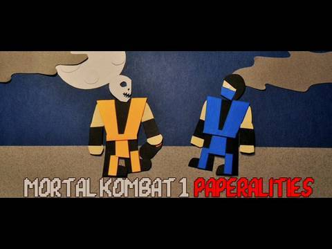 Бумажный Mortal Kombat