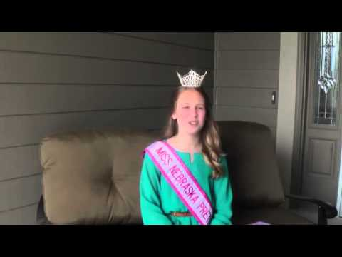 Miss Nebraska Preteen National Teenager 2014 ~ Hannah Kost