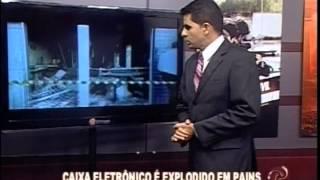 Caixa eletr�nico � explodido em P�ins