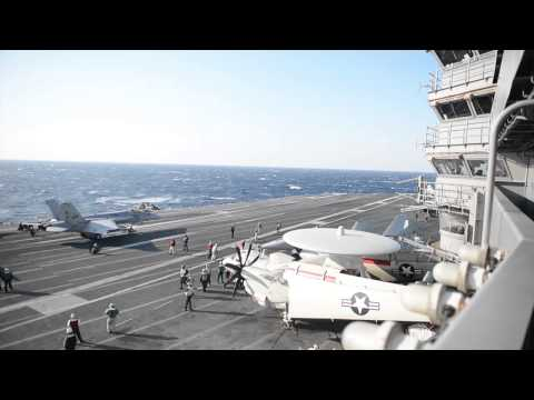 140313-N-XI307-002: USS George H.W. Bush (CVN 77) Conducts Flight Ops in Med