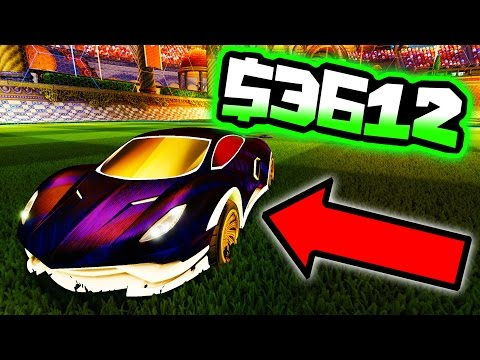 MY MOST EXPENSIVE CAR IN ROCKET LEAGUE IS DONE!!