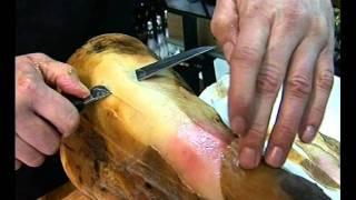 Como cortar un jamón