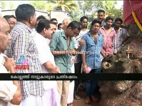 People protesting against cutting big tree in Kollam:മരമുത്തശ്ശിയെ സംരക്ഷിച്ചു
