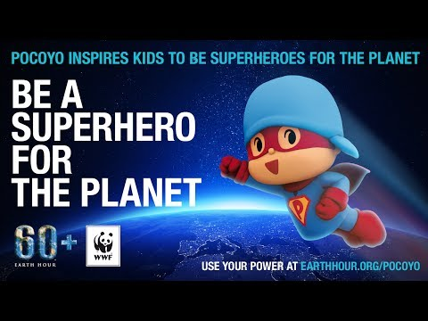 Pocoyo has become a Superhero at earthhour.org 2014