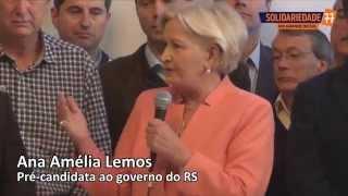 Lançamento da pré-candidatura de Ana Amélia e coligação Solidariedade, PP e PSDB