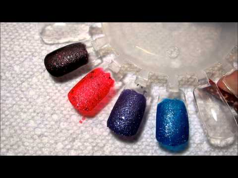 OPI Liquid Sand Swatches, The next big thing in nail polish? I'm not quite convinced of that, but they're interesting, I'll say that much. You can see the haul of these here: http://y...