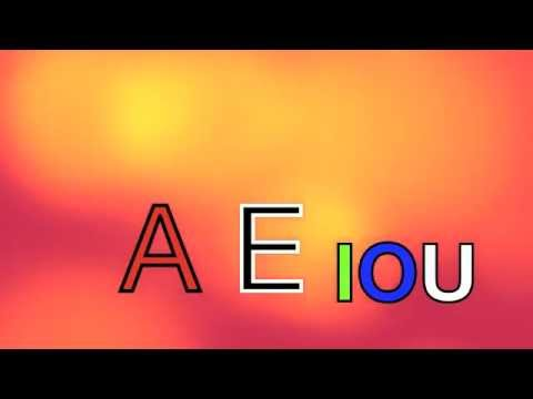 The AEIOU Vowel song - YouTube