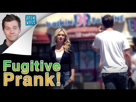 Hilarious fugitive prank