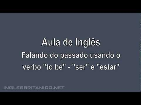Aula de Ingles. Aprender o verbo to be no passado