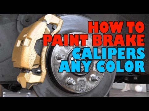 how to paint brake calipers any color diy youtube. Black Bedroom Furniture Sets. Home Design Ideas