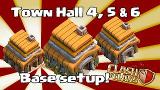 Clash Of Clans Town Hall 4,5 & 6 Base Layouts