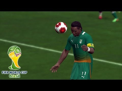 PES 2014 - Brazil 2014 Simulation - Ivory Coast vs. Colombia