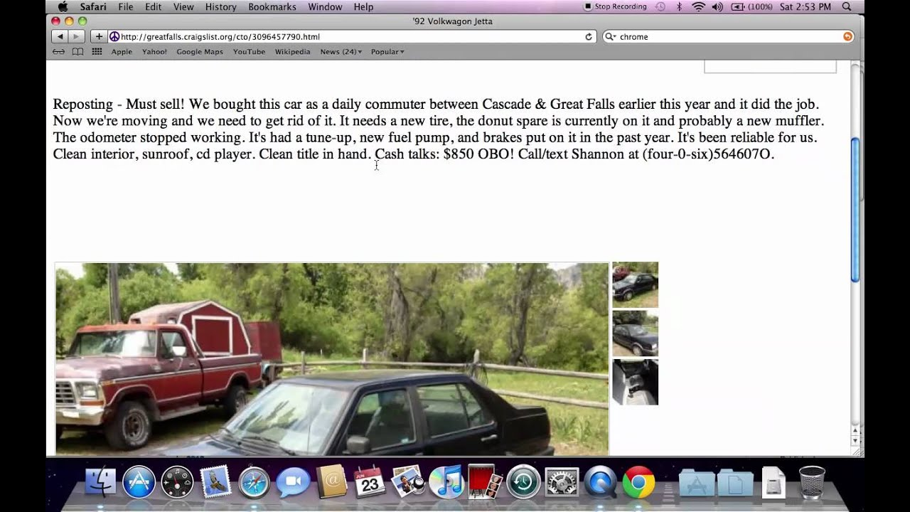 Craigslist Great Falls Montana Used Cars Trucks And Vans For Sale By Owner Popular Youtube