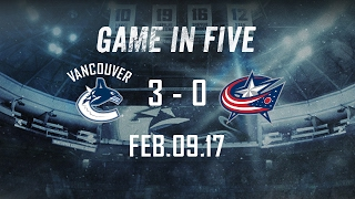 Canucks vs. Blue Jackets Game in Five (Feb. 09, 2017)