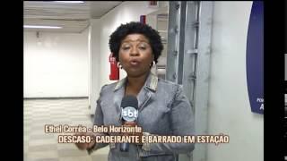 Cadeirante � impedido de viajar por falta de elevadores na esta��o do metr� Vilarinho