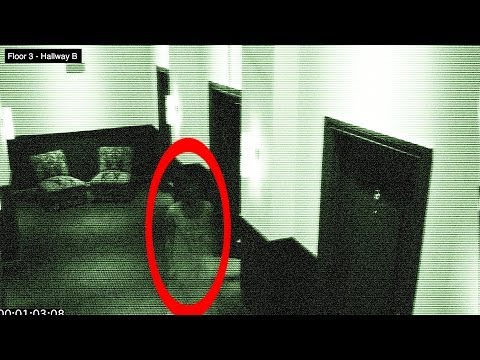 Ghost in Hotel on Halloween - Caught of Security Camera 100% Real - Found Video #12