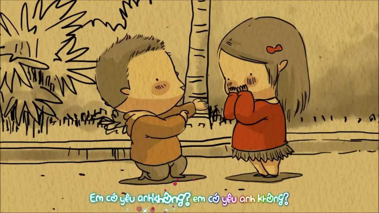 """Dân mạng thích thú với clip hoạt hình đáng yêu """"Em có yêu anh không""""!"""