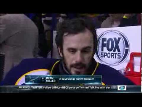 Ryan Miller post game interview Tampa Bay Lightning St. Louis Blues  3/4/14 NHL Hockey.