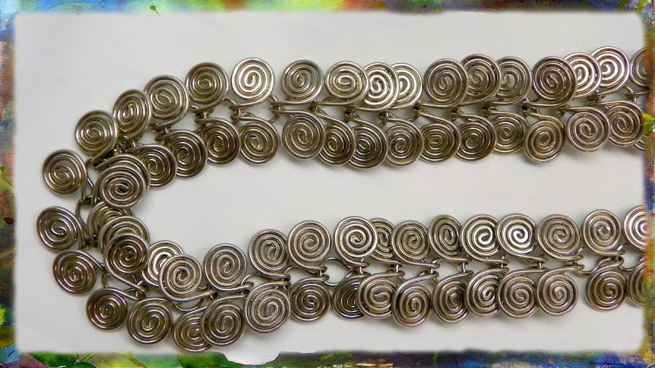 How to make a silver wire jewelry necklace egyptian link for Step by step wire jewelry subscription