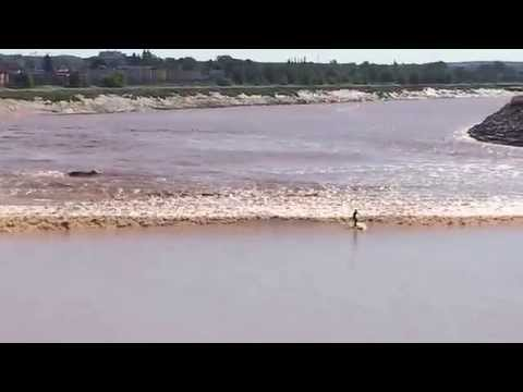 Super Moon Tidal Bore @ Moncton NB, July 12, 2014