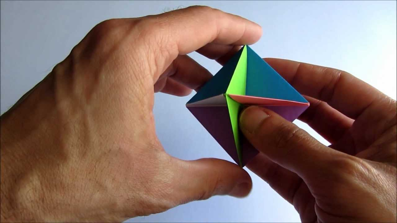 easy origami modular spinner youtube