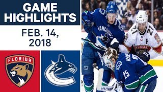 NHL Game Highlights | Panthers vs. Canucks - Feb. 14, - 2018