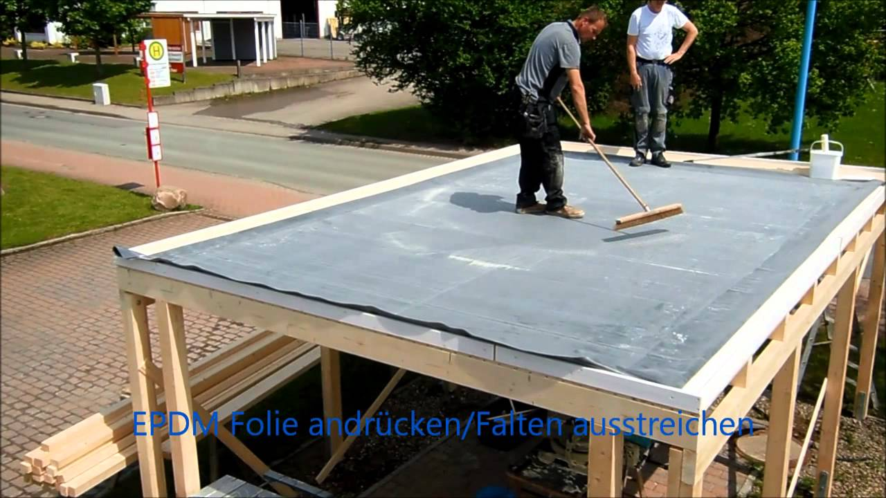 dachprotect epdm dach erstellen youtube. Black Bedroom Furniture Sets. Home Design Ideas