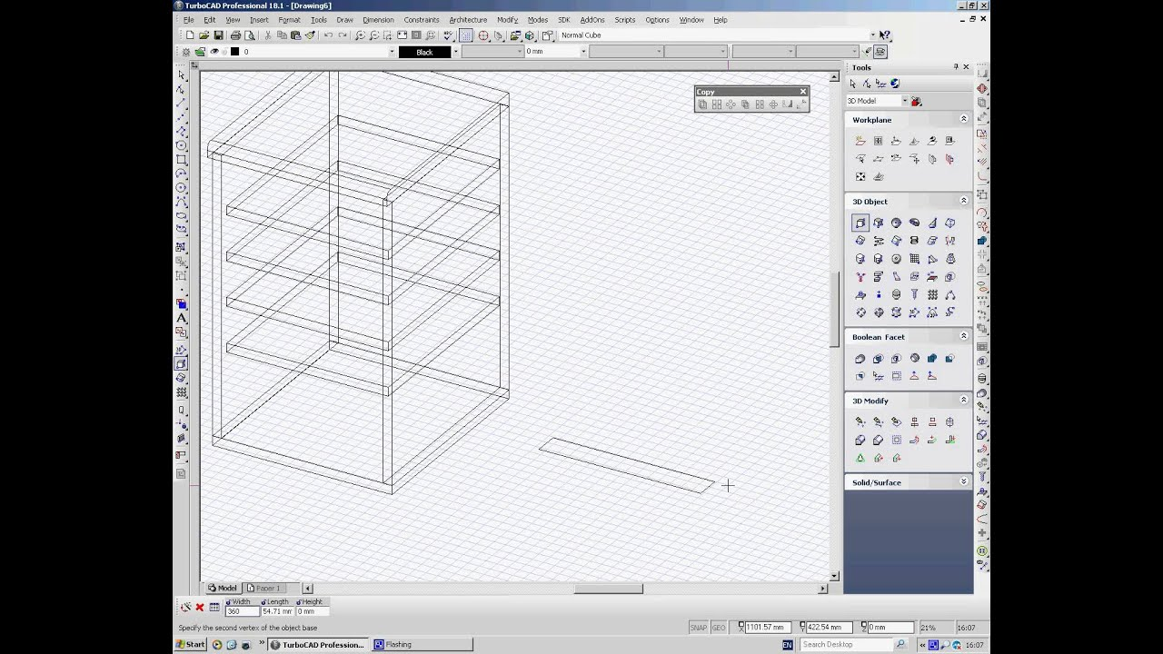 Turbocad drawing a kitchen cabinet in 3d youtube for Turbocad drawing template
