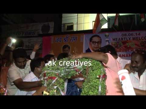t.raja bhai felicitate Malavath Poorna and S.Anand kumar