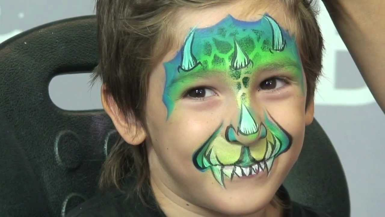 dragontales face painting design youtube