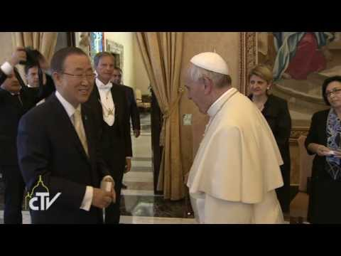 Ban Ki-moon, Audience with His Holiness Pope Francis I (Rome, Vatican)